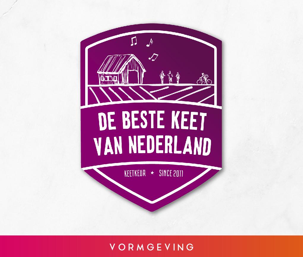 Vormgeving logo De Beste Keet van Nederland